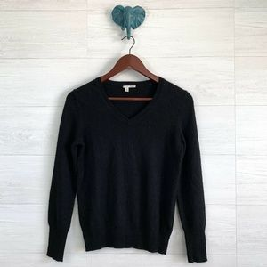 Halogen 100% Cashmere V Neck Pullover Sweater